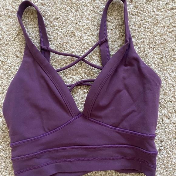 Ryderwear purple crop top